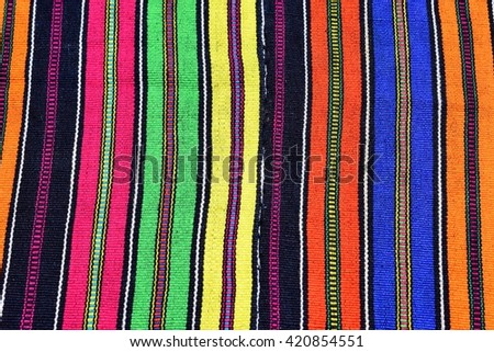 Beautiful cloth made at Nahuala village near Xela (Quezaltenango) Guatemala