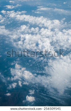 Beautiful cloud view from above. - stock photo
