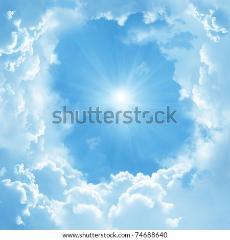 beautiful clouds - stock photo