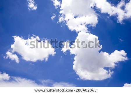 Beautiful clouds and blue sky. - stock photo
