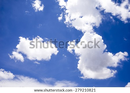 Beautiful clouds and bule sky. - stock photo
