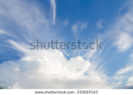 Beautiful Clouds in cloudscape with the blue sky / Beautiful Clouds - stock photo