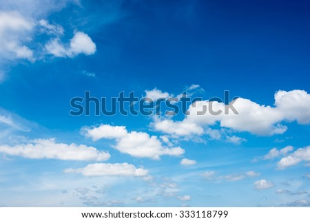 beautiful clouds in the  blue sky of Thailand - stock photo