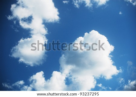 beautiful clouds of the summer sky - stock photo