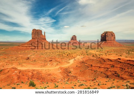 Beautiful clouds over Monument Valley, Arizona  - stock photo