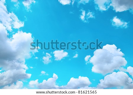 Beautiful cloudscape can be used for background - stock photo