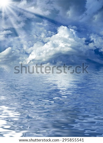 beautiful cloudscape over the water