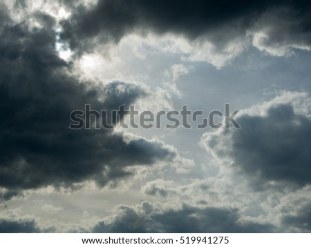 Beautiful cloudy sky Background in twilight time
