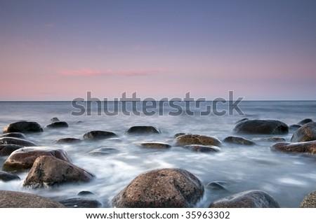 Beautiful coast scene. - stock photo