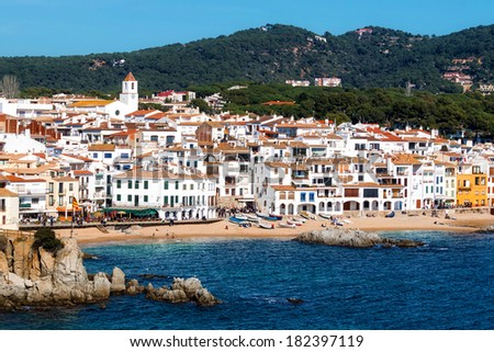 Beautiful coastal village in Spain