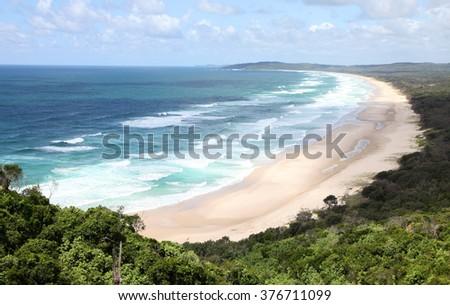 Beautiful coastline near Byron Bay, New South Wales, Australia - stock photo