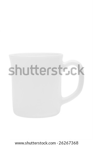 Beautiful coffee cup on a white background