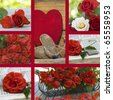 Beautiful collage of valentine day - stock photo