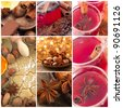 beautiful collage with anise - stock photo