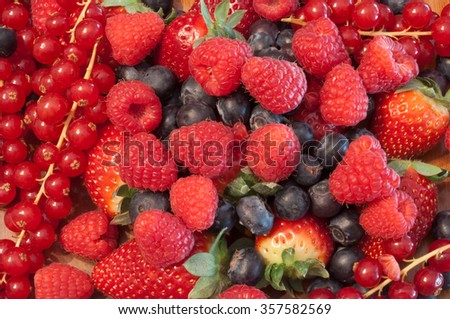 beautiful colored and tasty berries - stock photo