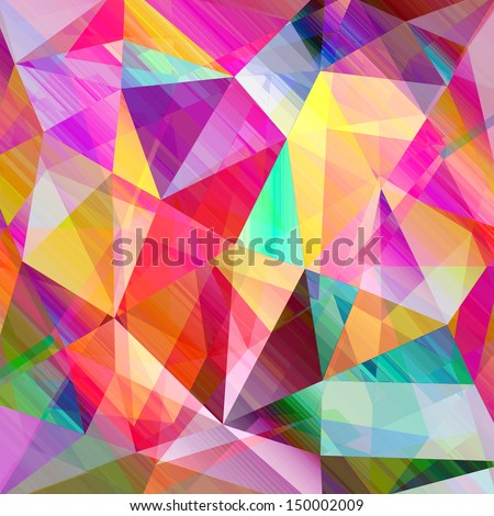 beautiful colorful abstract background with triangles - stock photo
