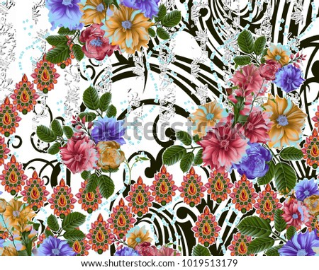 Beautiful colorful background and flower design