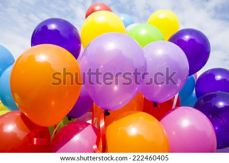 Beautiful colorful balloons - stock photo