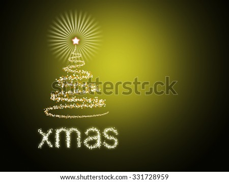 Beautiful colorful Christmas background - stock photo