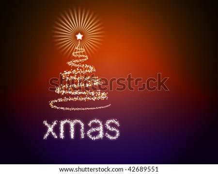 Beautiful colorful Christmas background - stock photo