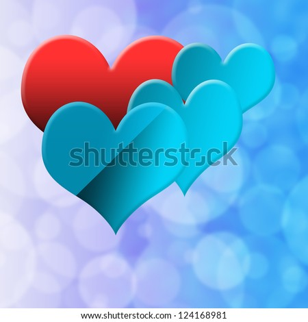 beautiful colorful heart isolated on white