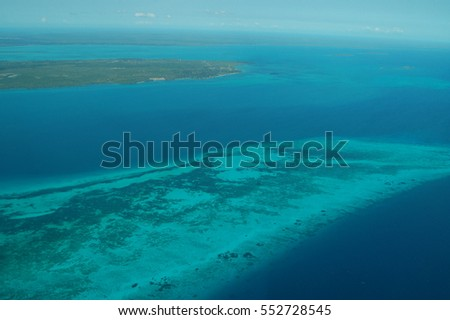 beautiful colorful landscape with ocean and African island Zanzibar