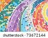 Beautiful colorful Mosaic - stock photo