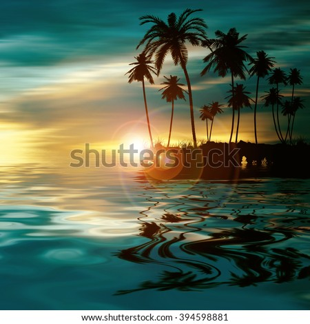 Beautiful colorful natural landscape - stock photo