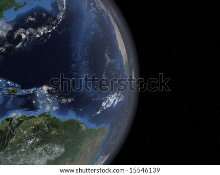 beautiful computer generated earth rendering