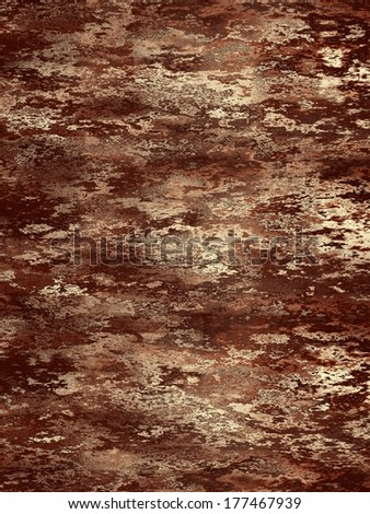 Beautiful computer generated texture of the brown wood bark. - stock photo