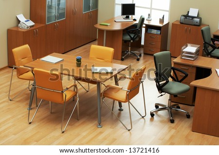 Beautiful conditions at modern and light office - stock photo