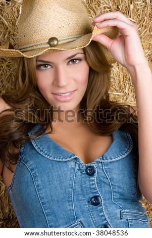 Beautiful Country Girl - stock photo