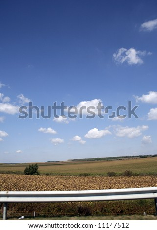 Beautiful country landscape view. Great nature scene.