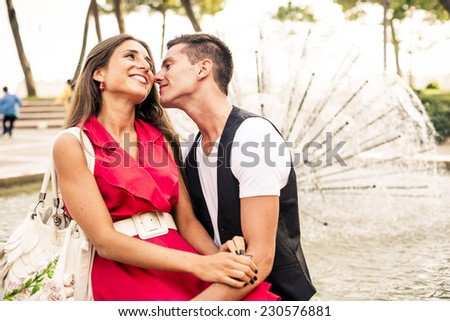 Beautiful Couple having fun during a free day.