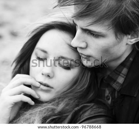 beautiful couple in love - stock photo