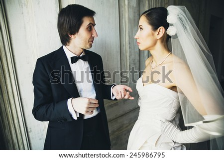 beautiful couple newlyweds
