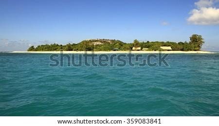 Beautiful Cousin Island in Indian Ocean. Seychelles. - stock photo