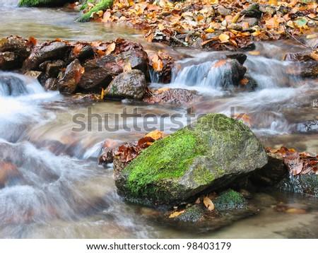 beautiful creek - stock photo