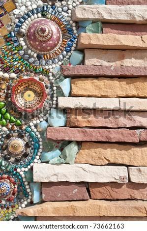 Beautiful Crystal and Brick Wall texture - stock photo
