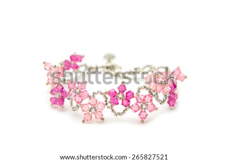 beautiful crystal bracelet - stock photo