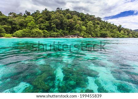 Beautiful crystal clear sea at tropical island, Koh Lipe, Andaman Sea, Thailand