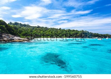 Beautiful crystal clear sea at tropical island, Koh Lipe, Andaman Sea, Thailand - stock photo