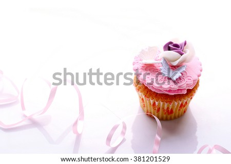 beautiful cupcake on a white background