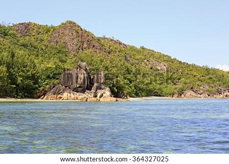 Beautiful Curieuse Island in Indian Ocean. - stock photo