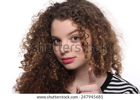 Beautiful curly woman