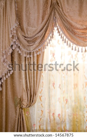 Beautiful curtain - stock photo
