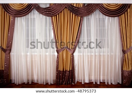 Beautiful curtain at a window