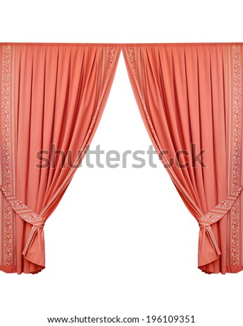 beautiful curtain isolated on white background
