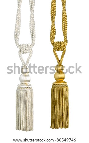 Beautiful curtain tassel for your beautiful house - stock photo