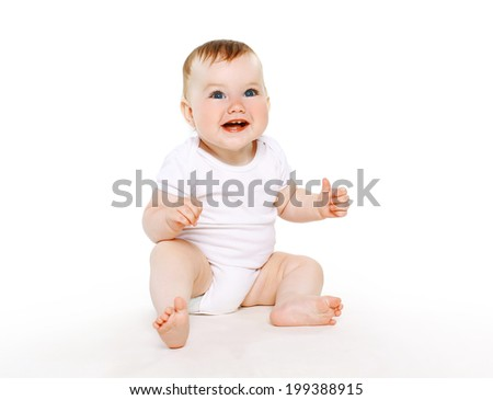 Beautiful cute baby smile